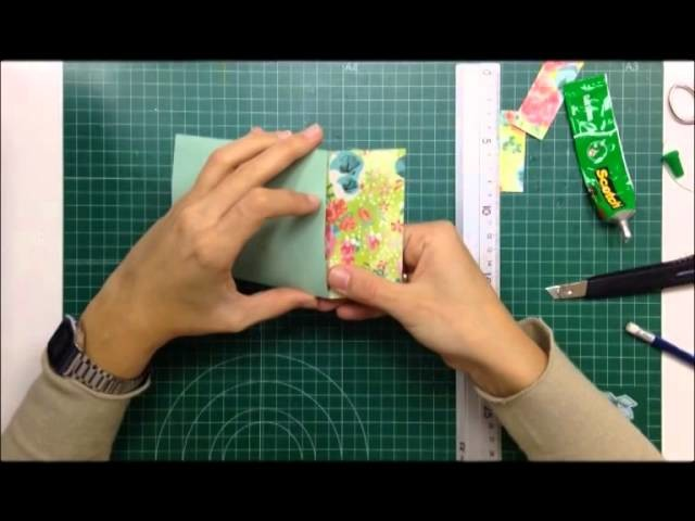 Cómo hacer un bolsillo con solapa para decorar nuestros álbumes - TUTORIAL Scrapbook
