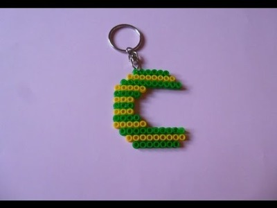 Como hacer un llavero de hama beads LETRA C