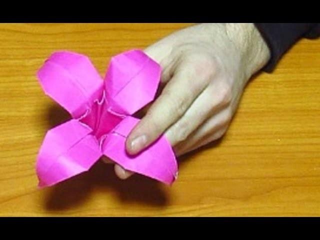 Como Hacer Un Origami De Papel Hermosa Flor De Papel Paso A Paso
