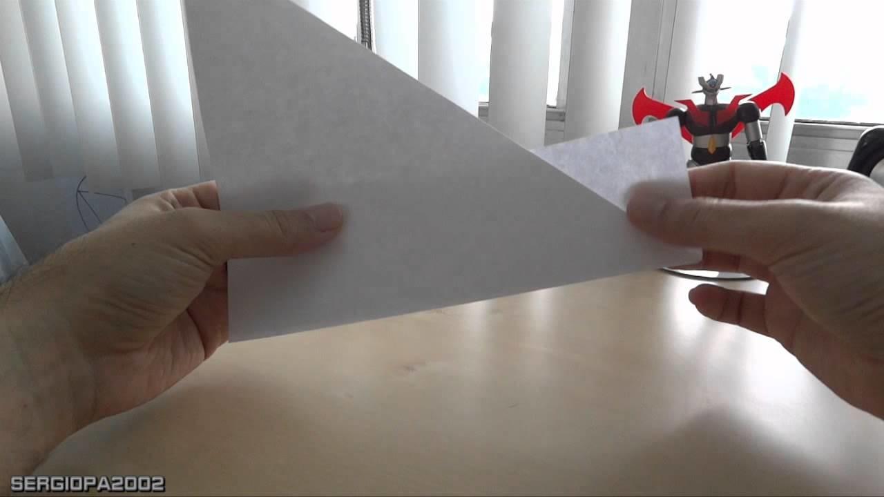 Como hacer un vaso con una hoja de papel normal sin goteo. Origami practico y facil.