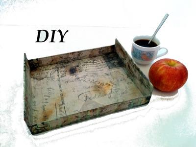 Como hacer una bandeja vintage. DIY, Tray vintage, crafts.