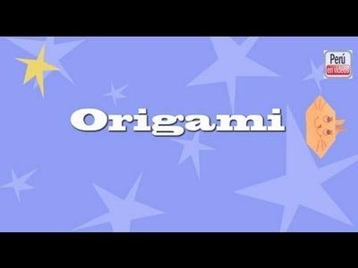 Como hacer una cara de conejo en papel -- Conejo de Origami