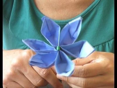 Cómo hacer una Flor en Origami - Manualidades para todos