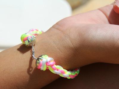 Cómo hacer una pulsera hecha con círculo kumihimo | Tutorial DIY