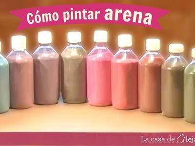 Como pintar arena DIY Alejandra Coghlan