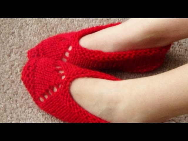 Como Tejer Pantuflas-Trailer-Easy Slippers Knitting 2 Agujas (239)