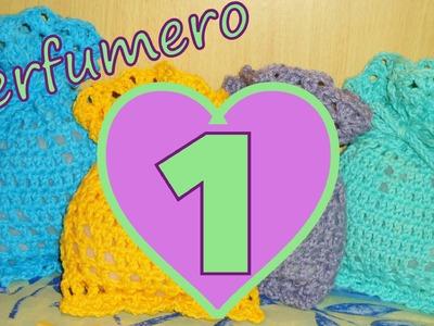 Cómo tejer un perfumero corazón 1° parte (filet crochet perfume heart) -tejido para zurdos-