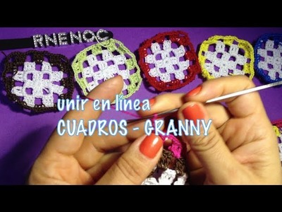 Cómo #unir #cuadros #granny en tiras ganchillo crochet