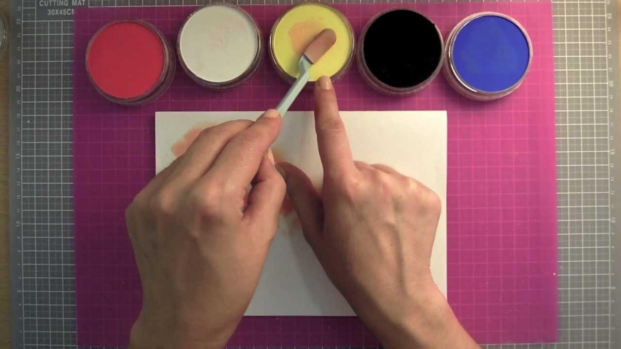 Como utilizar los Pan Pastel: Nociones básicas. Tutorial de manualidades y scrapbook
