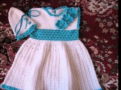 Conjunto para niña tejido a crochet