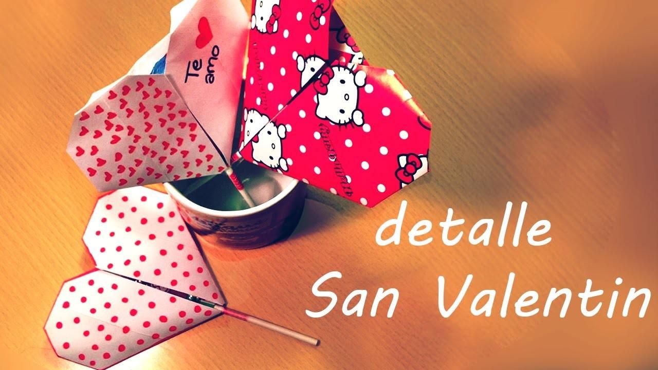 ♥ Corazones de origami con piruleta o paleta inclusivee para San Valetin!!
