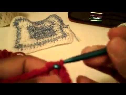 CuadrosTejidos (granny square)- 2da parte -Tutorial de tejido crochet