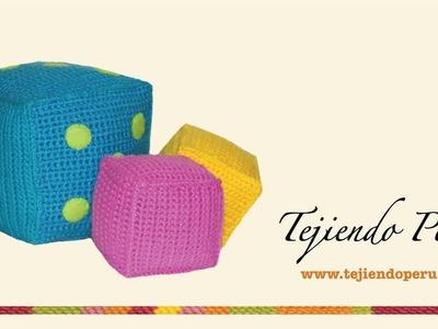 Cubos para niños tejidos a crochet