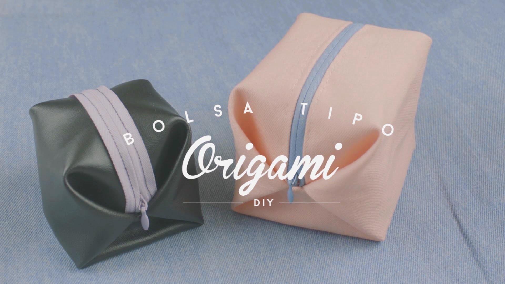 DIY - BOLSA TIPO ORIGAMI