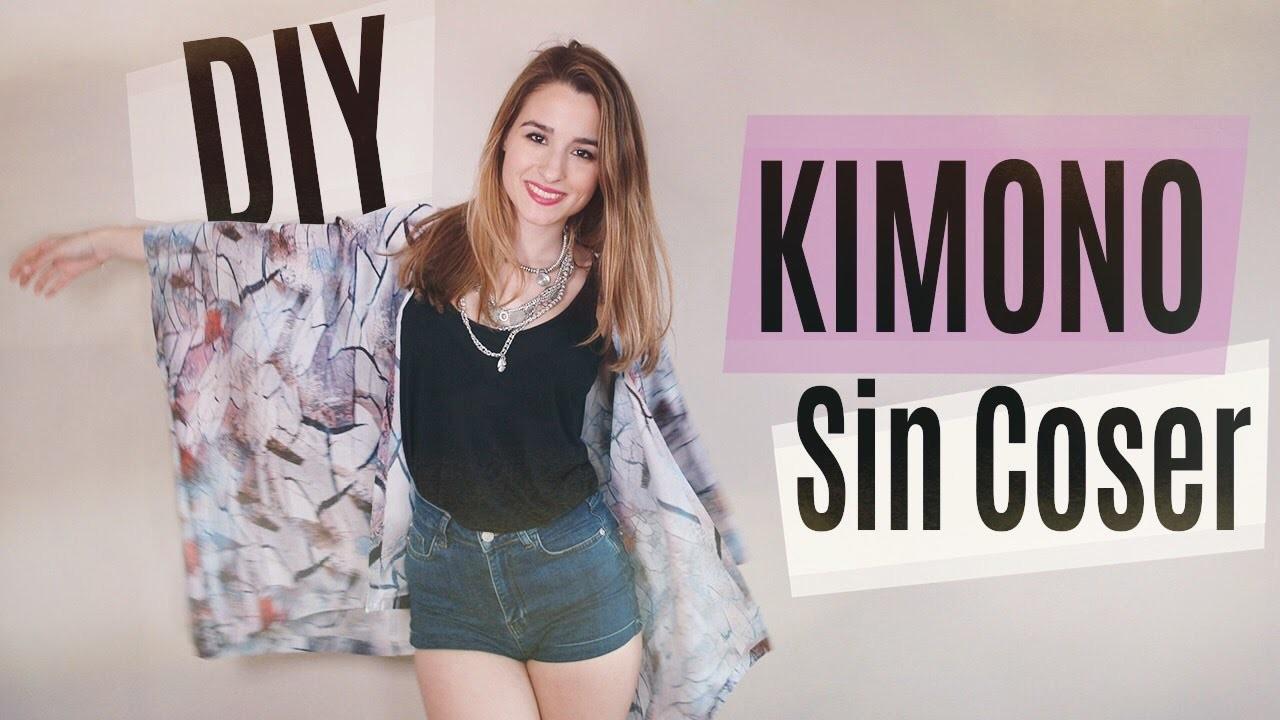 DIY: Cómo hacer un kimono SIN COSER