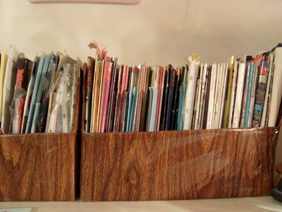 DIY Cómo hacer un porta revistas, reciclando