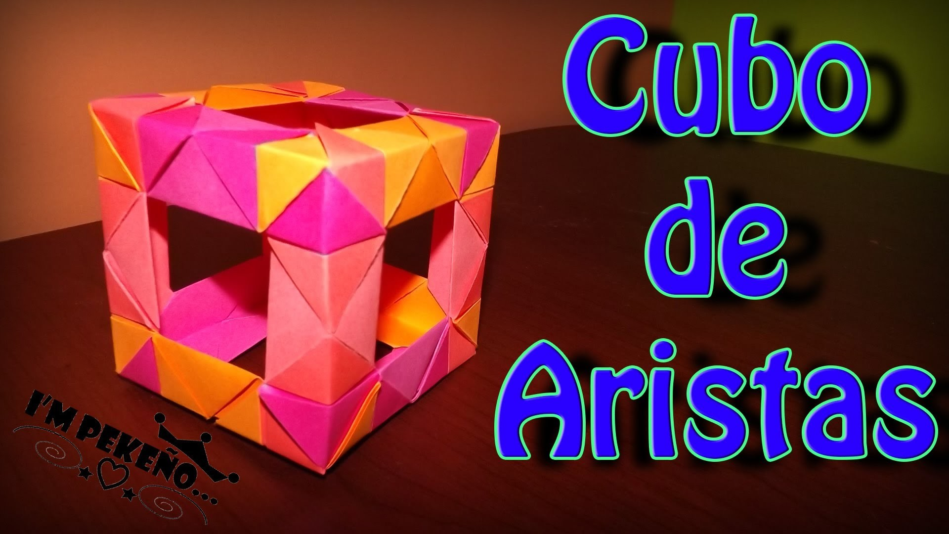 DIY - Cubo Origami - Pekeño ♥