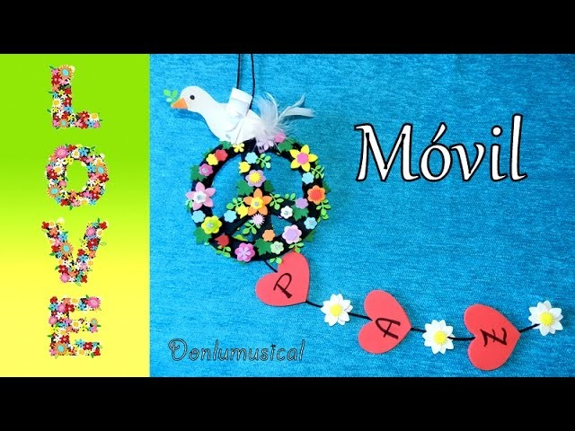 DIY: Móvil Paloma de la Paz. Peace craft for children
