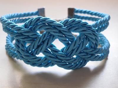 DIY Pulsera nudo marinero. Sailor knot bracelet