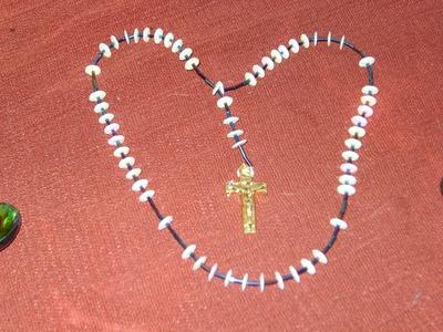 DIY Tutorial de rosarios con lentejuelas y canutillos