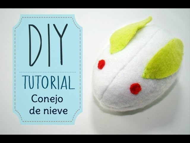 [DIY] Tutorial - Peluche de Conejito de Nieve.Snow Rabbit Plush