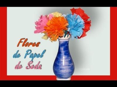 Flores de Papel de Seda - DIY - Tissue Paper Flowers