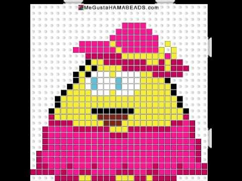 Girl (chica) pou hama beads #6