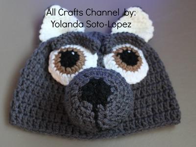 Gorro de lobo en #crochet  -video dos