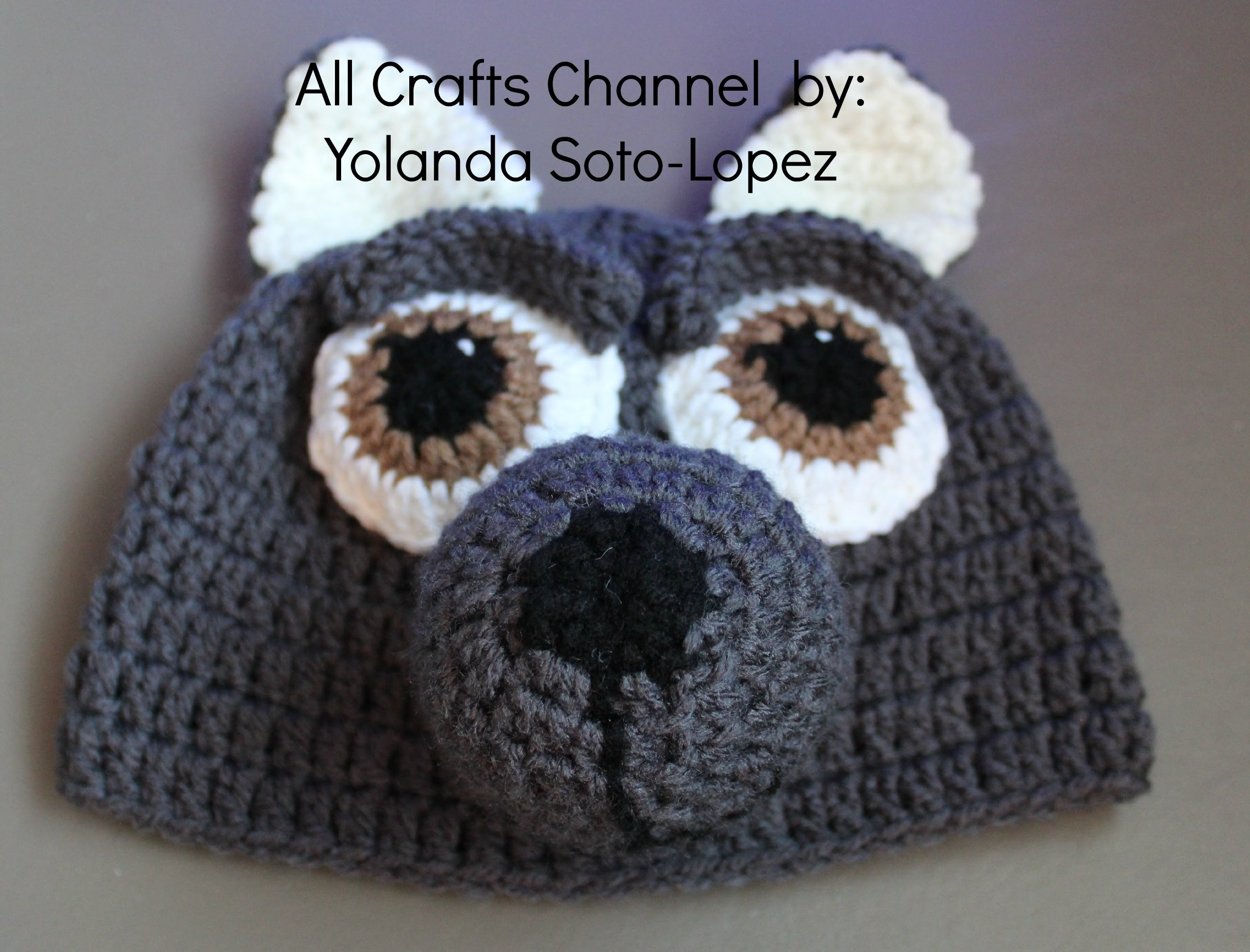 Gorro de lobo en #crochet  -video dos