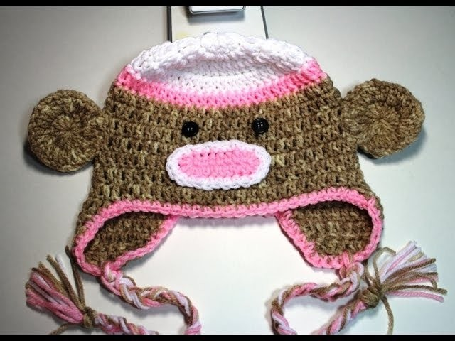 Gorro de mono en #crochet  -  video 1