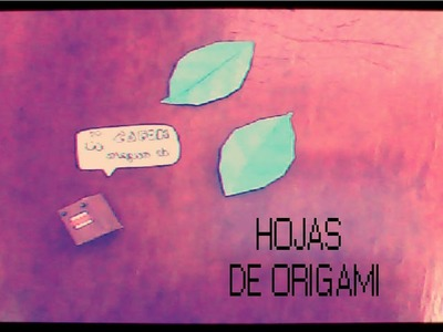Hojas de Origami
