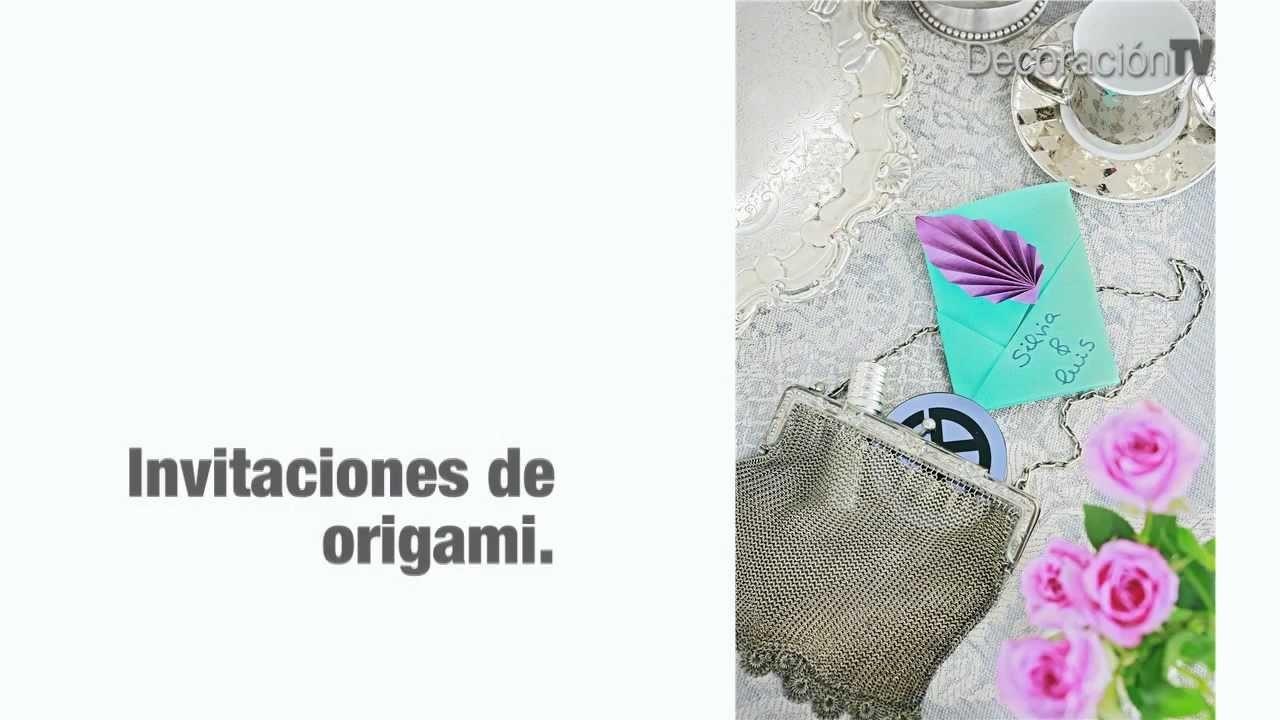 Invitaciones de boda de origami. Manualidades