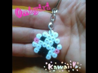 Llavero de Onigiri Kawaii con Hama Beads
