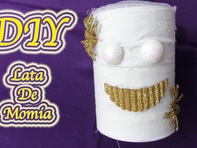 MANUALIDADES | LATA DE MOMIA | HALLOWEEN CRAFTS | RECICLAJE | DIY + SALUDOS - YuureYCrafts