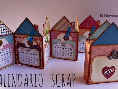 Mini Álbum Scrapbook Calendario 2015, Cómo hacer un Calendario Scrap, Scrapbook Calendar
