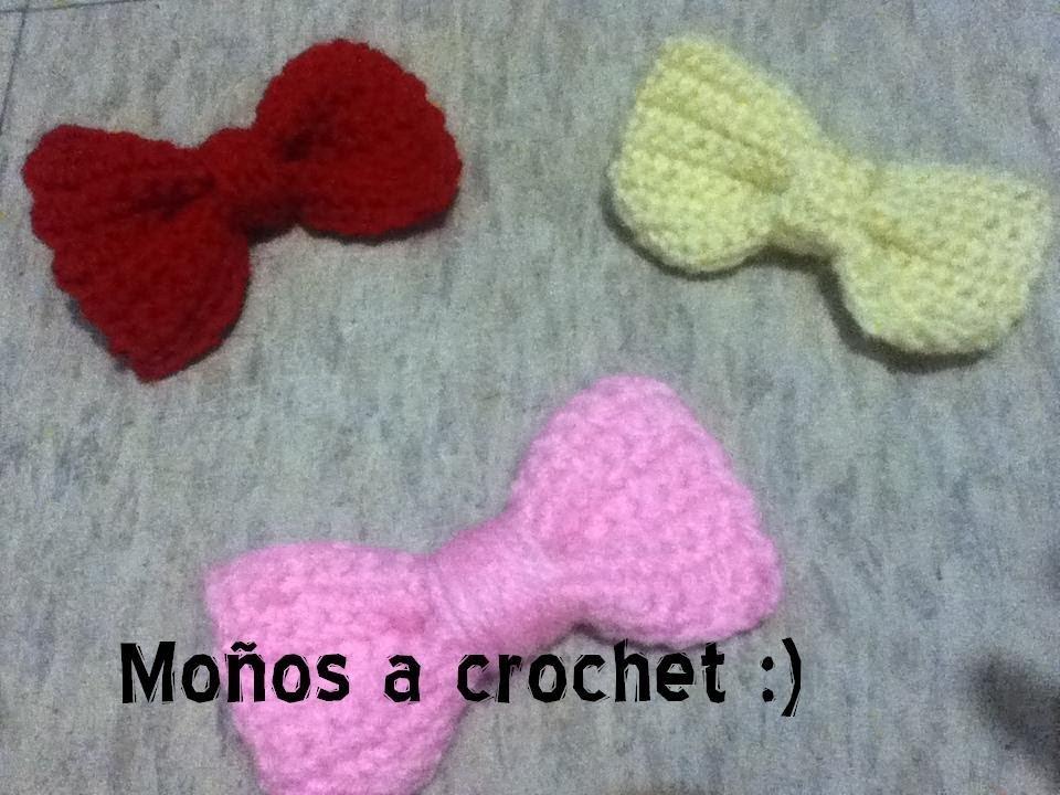Moños a crochet