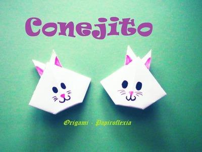 Origami - Papiroflexia. Cara de conejito muy fácil y rápida