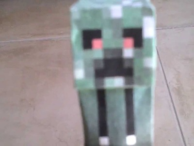 Papercraft #3 Steve y Creeper sin piernas :O