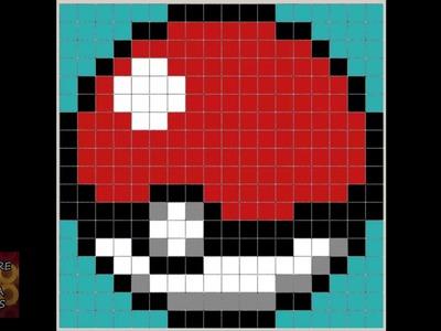Patrón Hama Beads - Pokeball