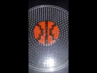 Pelota de Baloncesto placa redonda hama beads midi