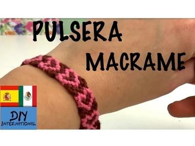 PULSERA MACRAME DE CORAZONES - TUTORIAL DIY