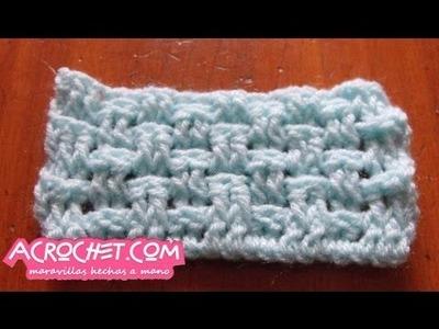 Punto arroz doble en crochet