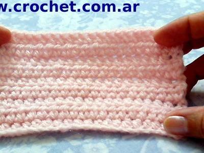 Punto medio alto en tejido crochet tutorial paso a paso.