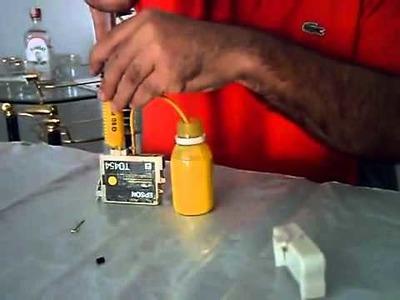 Recarga de cartuchos epson - Epson cartridge refilli DIY