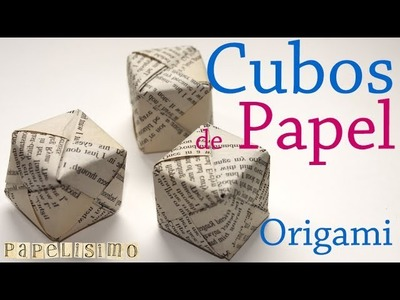 Tutorial. Caja Cubo Papel. Origami