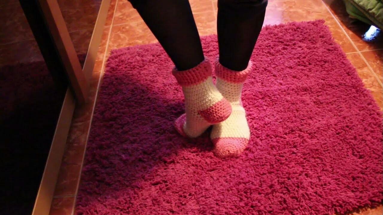 Tutorial ! Cómo hacer unos Calcetines (Socks ) a Crochet. 2ª Parte