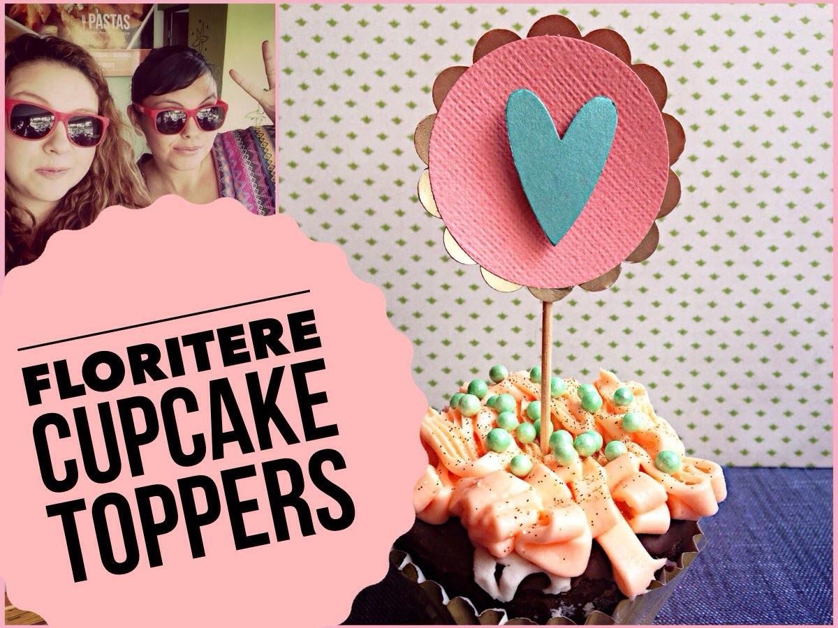 TUTORIAL Cupcake Toppers con FloriTere.Fácil detalle de amor persona especial