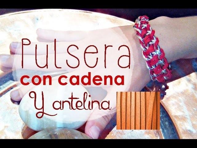 ♥ Pulsera con cadena y antelina roja | Tutorial Bisutería DIY