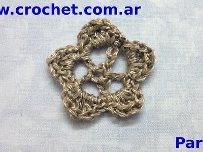 Flor N° 23l en tejido crochet tutorial paso a paso. Parte 2.