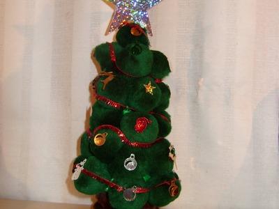DIY Tutorial Arbolito de navidad con pompones